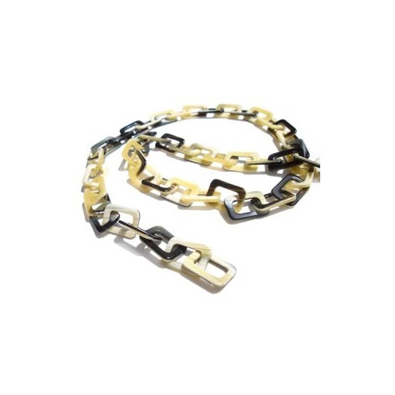 Horn Acetate chain with Medium rectangular links