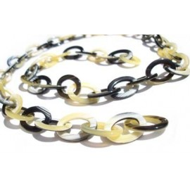 Black Acetate chain with Medium Oval links