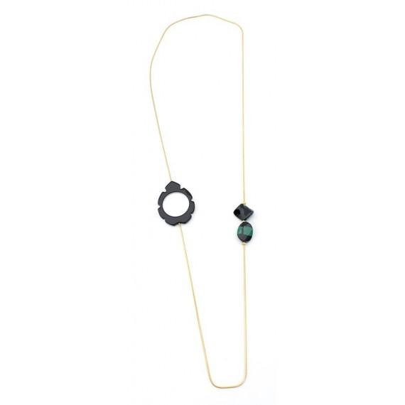 Black Magniflying glass Acetate pendant