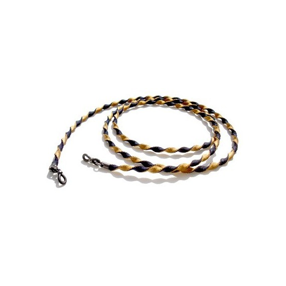 Gold and Brown polyester two-tone twisted cord