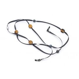 Ruban satin avec perles en Agathe Tigrée