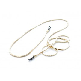 Chaîne métal serpent carrée