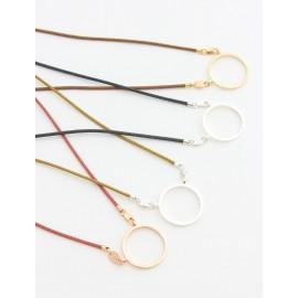 Pendentifs coton avec anneau en métal plat