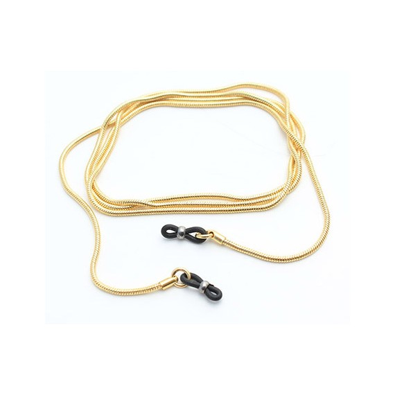 Gold round snake metal chain