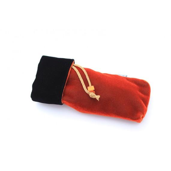 Black and Orange velvet case