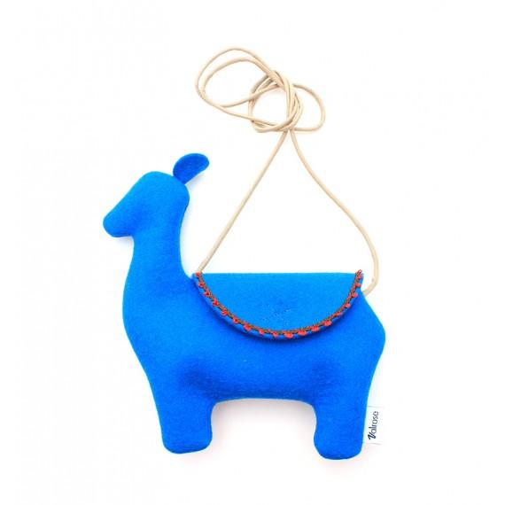 Felt children's blue Lama case