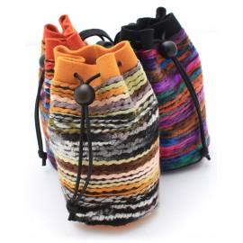 Pochettes en laine tissée