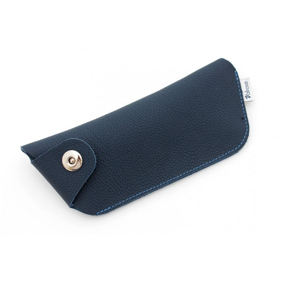 Leather case with magnetic clasp