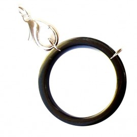 Acetate ring black/ silvery