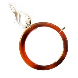 Acetate ring brown/ silvery