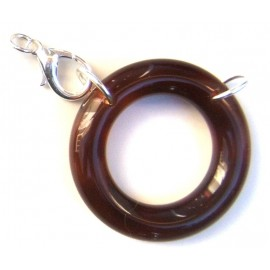 Acetate ring brown/ silvery L