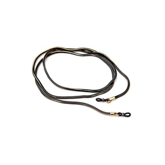 Chaîne métal serpent dorée noire