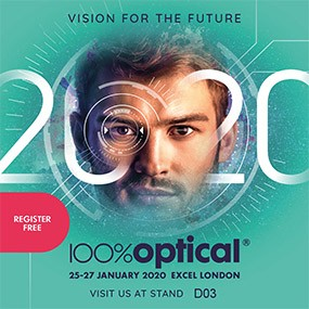 WE WILL PARTICIPATE AT 100% OPTICAL LONDON 2020 EXHIBITION